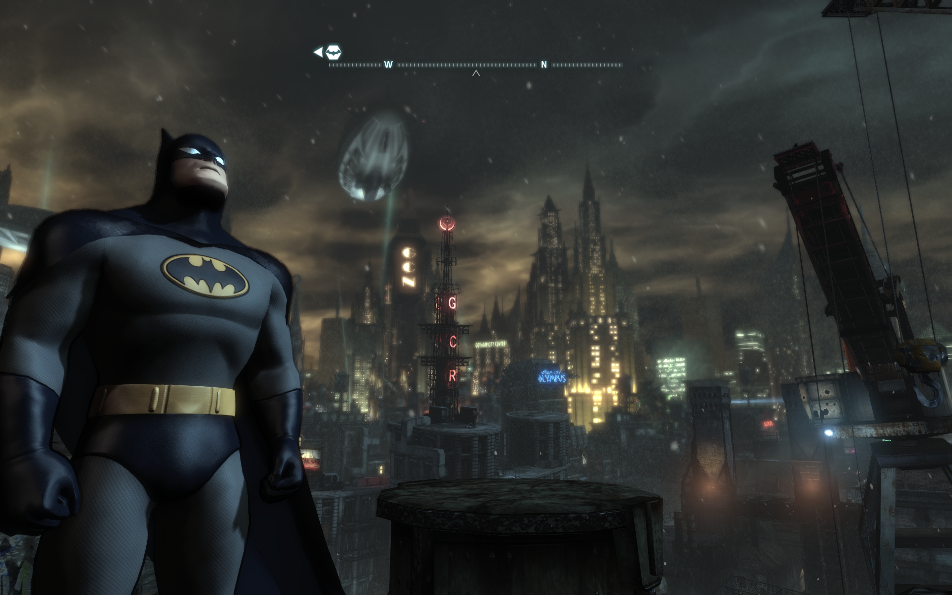 Batman Arkham City + The Animated Series skin = WIN